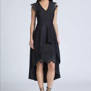 SHOSHANNA MIDNIGHT CECILE HIGH-LOW DRESS SZ2